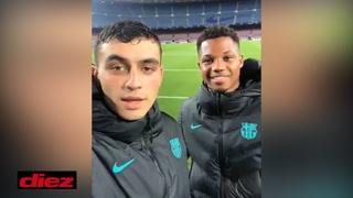 El mensaje de Pedri junto a Ansu Fati después de sus goles en una gran noche con el Barcelona en Champions League