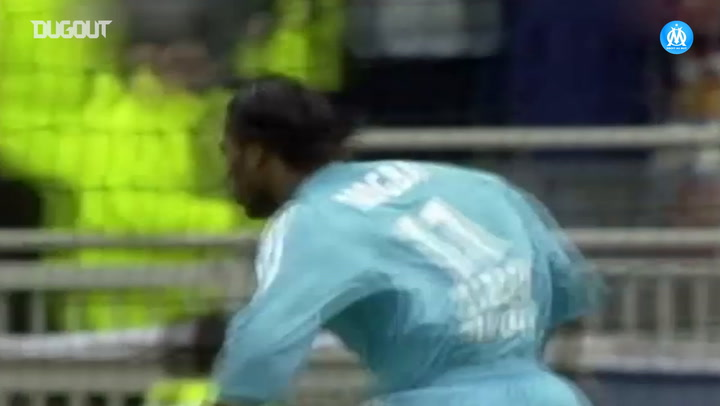 Sylvain N'Diaye's superb assist for Didier Drogba vs Lyon