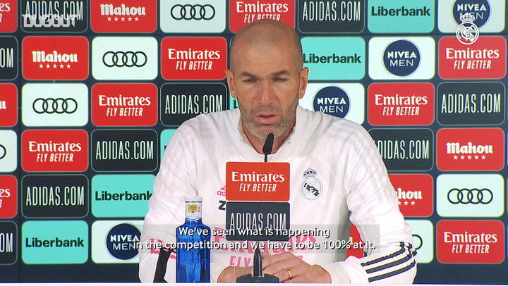 Zinedine Zidane: 'There are no easy competitions or matches'