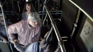 Surveillance video captures details of man pushed off bus