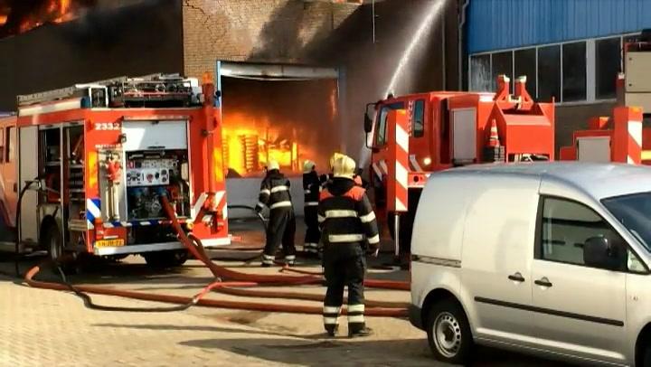 Brand industrieterrein Eindhoven