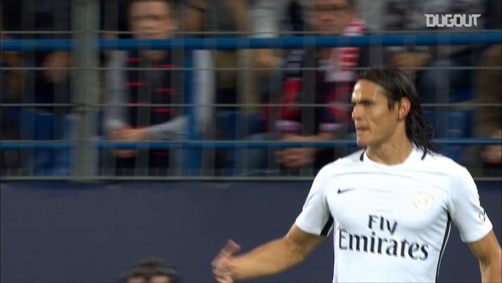 Cavani's 4 goals in 33 minutes in Caen