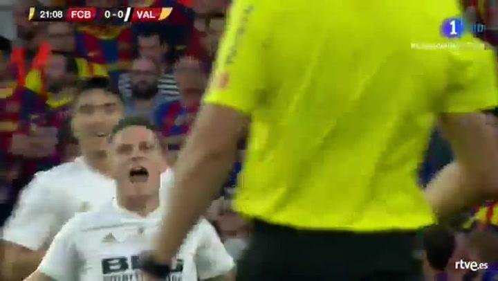 Copa del Rey: Barça-Valencia. Gol de Gameiro (0-1)