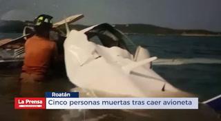 Cinco personas muertas tras caer avioneta en Roatán