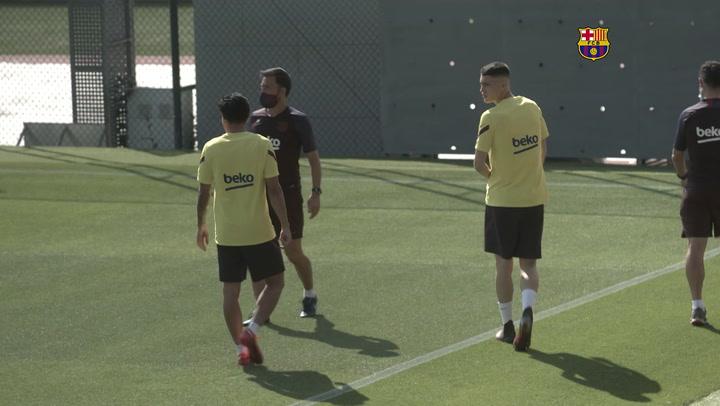 Messi no entrena con el grupo