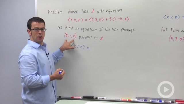 Perpendicular, Parallel and Skew Lines in Space - Problem 1