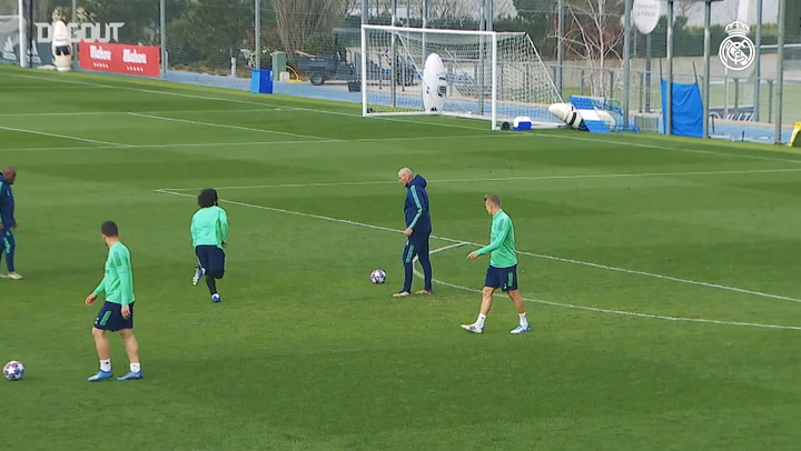 Final training session ahead of Manchester City clash