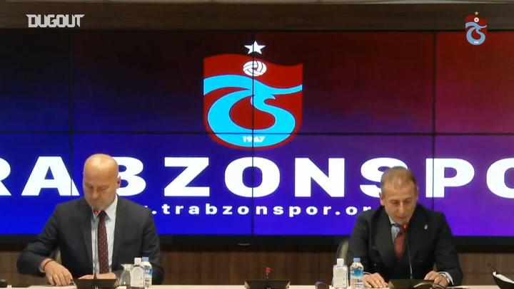 Trabzonspor, Abdullah Avcı'yı Basına Tanıttı