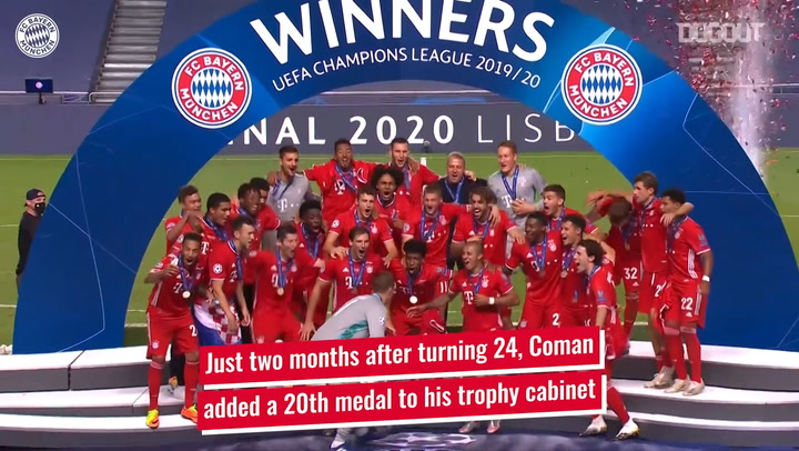 Kingsley Coman's incredible trophy haul