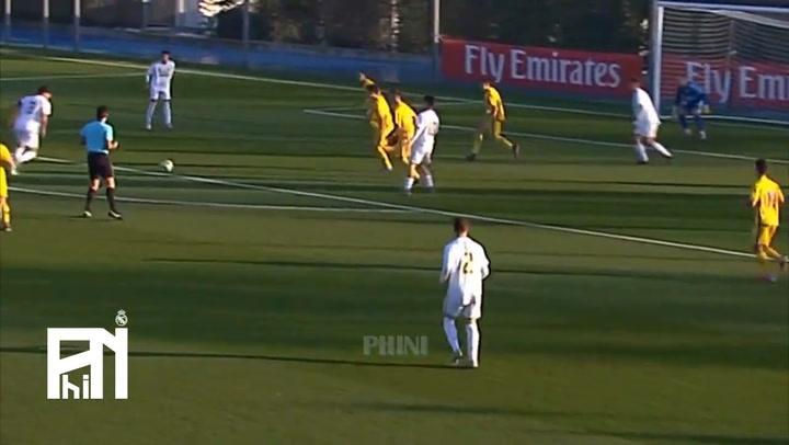 Así juega Miguel Gutiérrez, el juvenil que enamora a Zidane