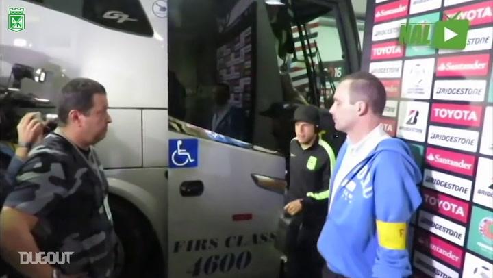 Bastidores da vitória do Atlético Nacional sobre o São Paulo no Morumbi