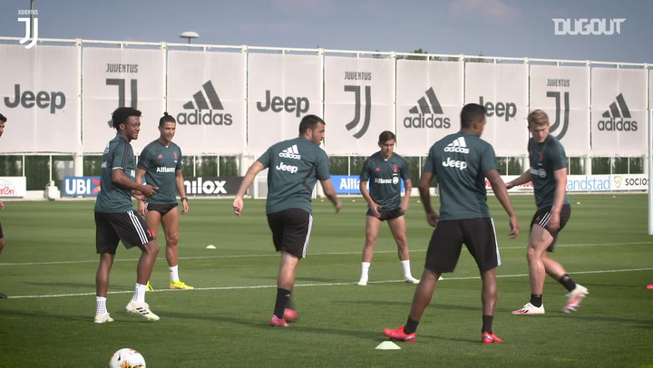 Juventus train, as they close in on Serie A return