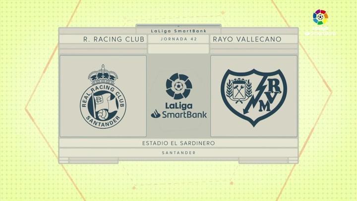 LaLiga Smartbank (Jornada 42): Racing Santander 1-2 Rayo Vallecano