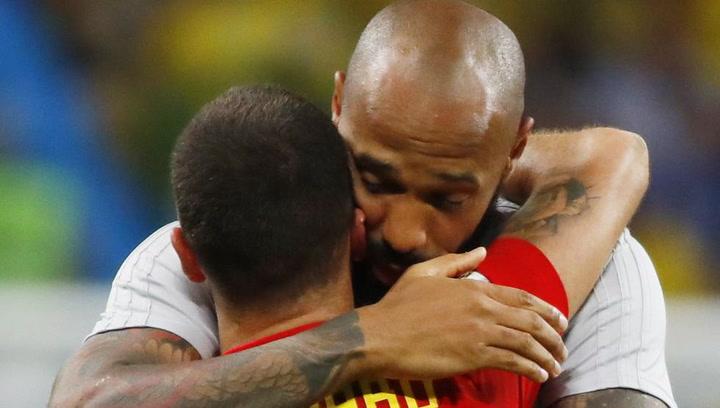 Eden Hazard, cabizbajo tras su derrota con Bélgica ante Francia