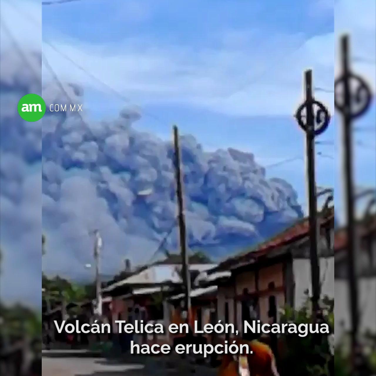 Video: Así fue la humareda del volcán Telica en León, Nicaragua.