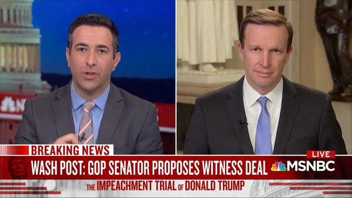 Dem Sen. Murphy: Trump 'Trying to Shake Down' the Senate on Witnesses