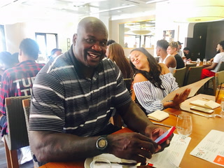 Former NBA player, Shaquille O'Neal, speaks about his new Las Vegas chicken restaurant.