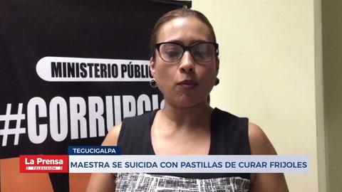 Maestra se suicida con pastillas de curar frijoles