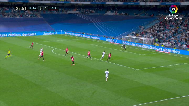 Gol de Asensio (3-1) en el Real Madrid 6-1 Mallorca