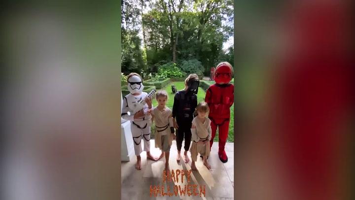 Wanda Nara disfraza a sus hijos para Halloween y las redes alucinan