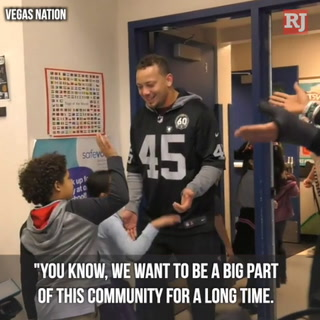 The Las Vegas Raiders give back – VIDEO