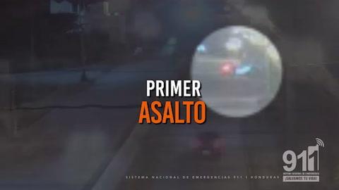 Cámaras captan detención de individuos en moto tras cometer asaltos en Tegucigalpa