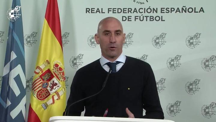 """Rubiales: """"La intención de la RFEF es que la final de Copa se juegue con público"""""""