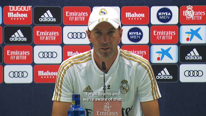 Zidane: 'San Mamés is a tough place to go to'