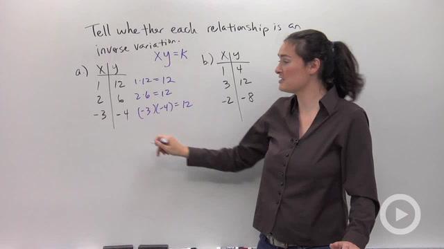 Inverse Variation - Problem 1