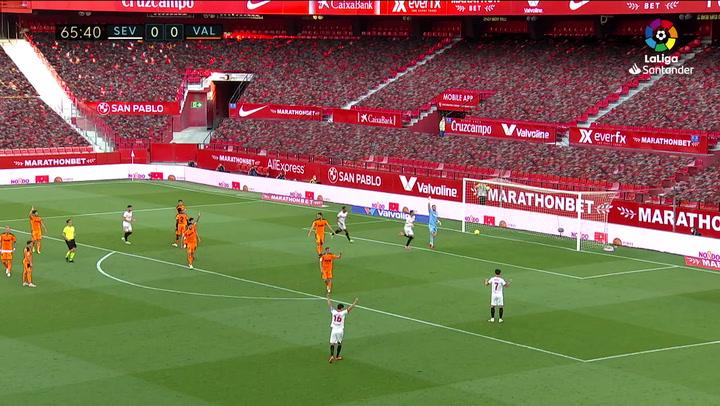 Gol de En-Nesyri (1-0) en el Sevilla 1-0 Valencia