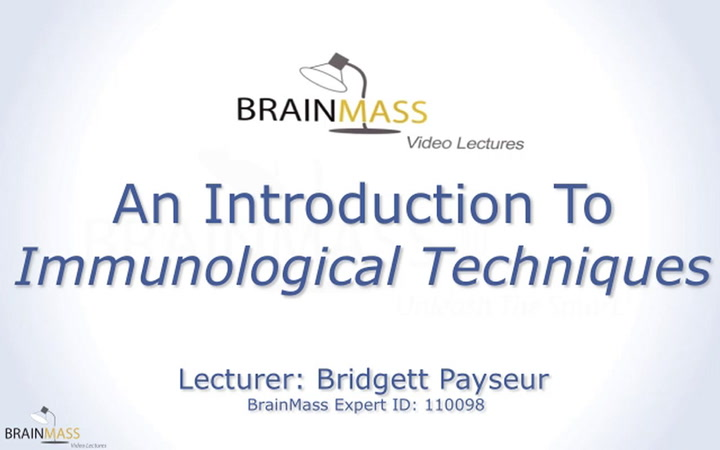 An introduction to the immunology techniques