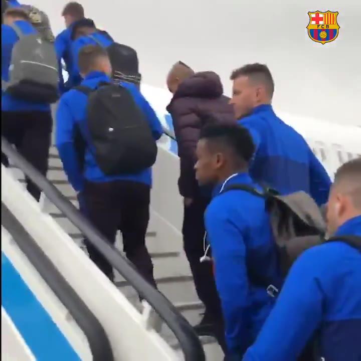 El Barça ya vuela hacia Ibiza