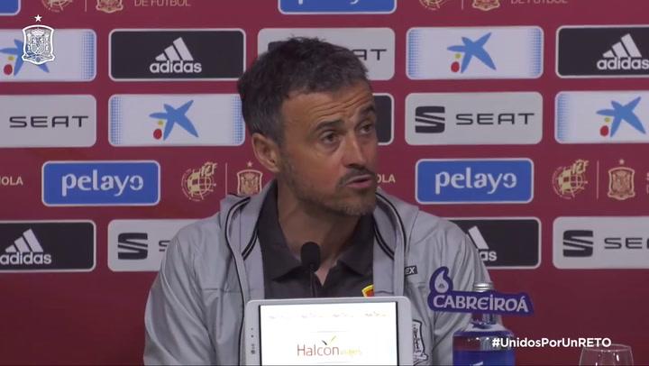 Rueda de prensa de Luis Enrique tras la convocatoria de la Selección