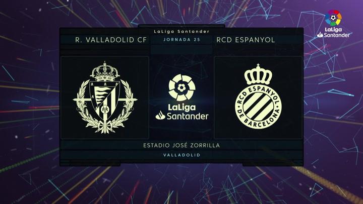 LaLiga Santander (J25): Resumen y goles del Valladolid 2-1 Espanyol