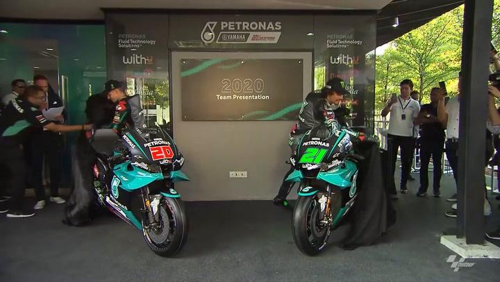 Presentación de la nueva moto del Team Yamaha Petronas 2020