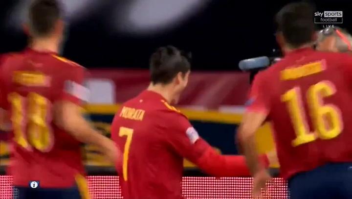 España-Alemania 1-0. Gol de Álvaro Morata