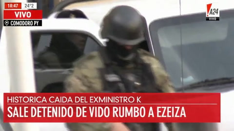 El exministro Julio De Vido quedó preso en Ezeiza