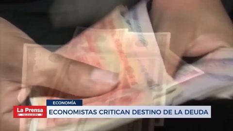 Economistas critican destino de la deuda de Honduras
