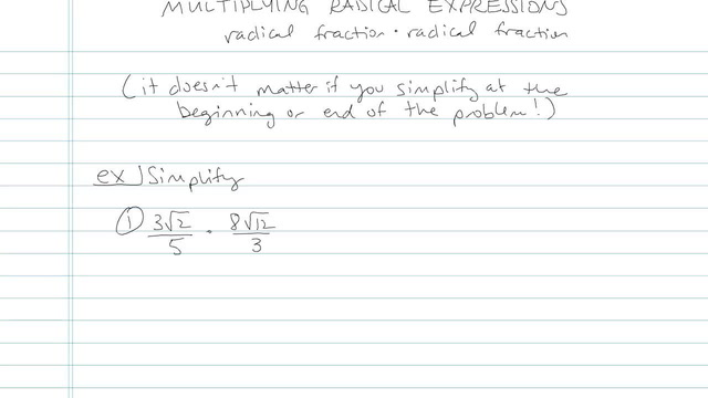 Multiplying and Distributing Radical Expressions - Problem 7