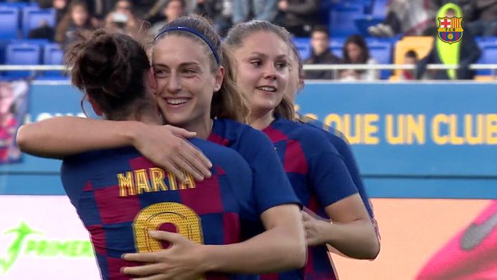 El resumen del Barça - Sporting Huelva (7-0) de la Liga femenina