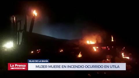 Mujer muere en incendio ocurrido en Utila, Islas de la Bahía