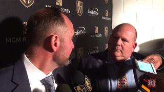 Golden Knights' Peter DeBoer talks loss to Tampa Bay Lightning