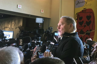 Scott Boras, Bryce Harper's agent, speaks to media at baseball's winter meetings
