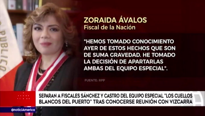 Separan a fiscales Castro y Sánchez del equipo especial Cuellos Blancos tras conocerse reunión con Vizcarra