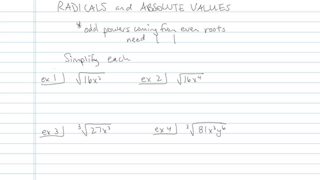 Radicals and Absolute Values - Problem 4