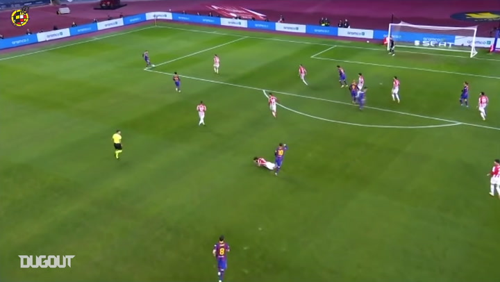 Messi's red card in the Spanish Supercup Final