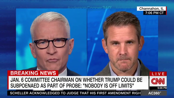 Kinzinger: Subpoenaing Trump, Pence Not Off the Table -- 'It Is Realistic'