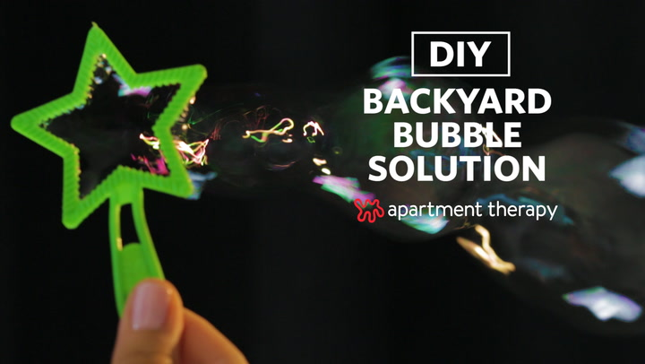 how to make your own backyard bubble solution apartment therapy