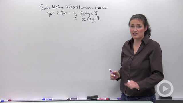 Solving Systems of Equations using Substitution - Problem 3