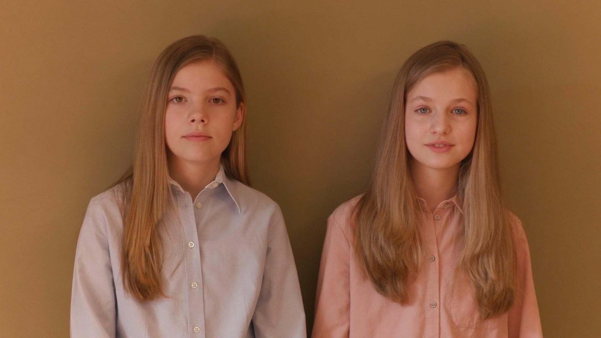 El mensaje de agradecimiento de la princesa Leonor y de la infanta Sofía